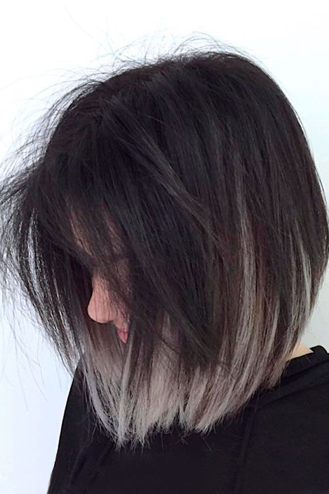 Dark Root Hair with Grey Color picture1 ❤️ Grey ombre hair remains popular, ...