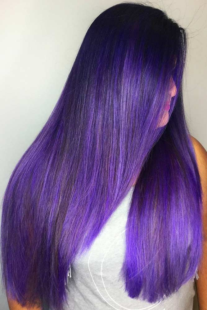 Dark True Purple #purplehair #brunette ❤️ Dark purple hair is quite bold, an...