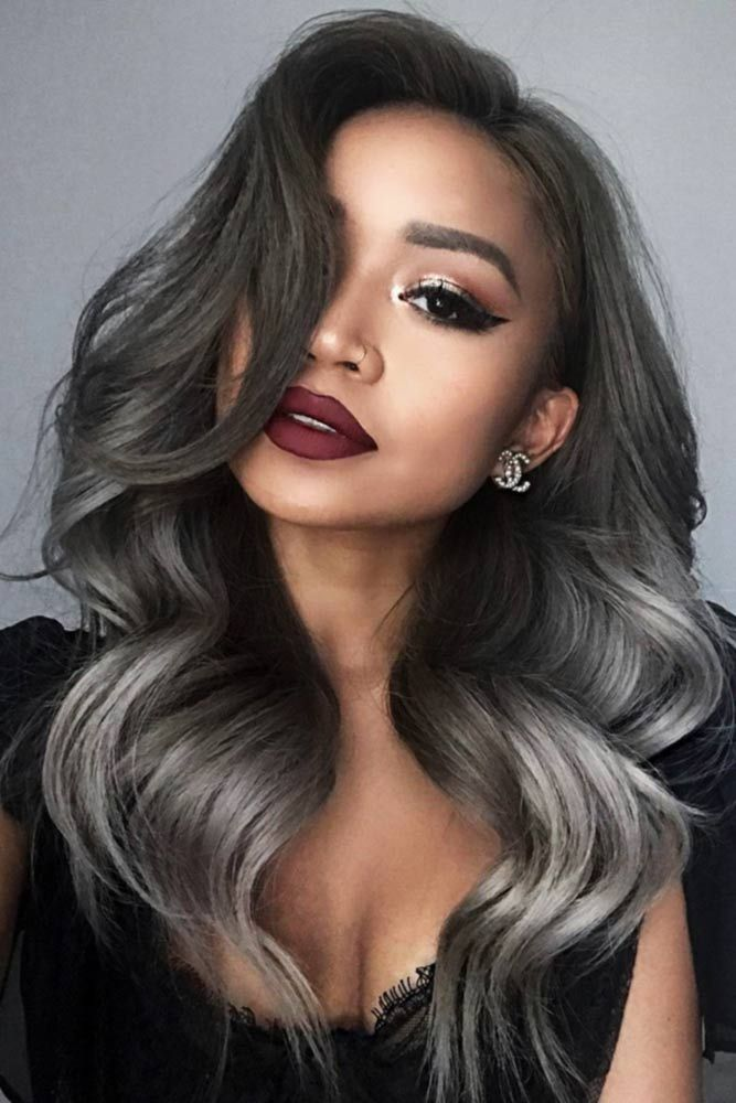 Deep Dark Balayage #saltandpepperhair #greyhair #balayage ❤️ Salt and pepper...