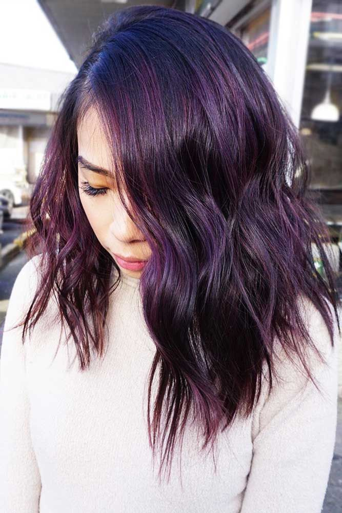 Deep Plum Black #purplehair #brunette ❤️ Dark purple hair is quite bold, and...