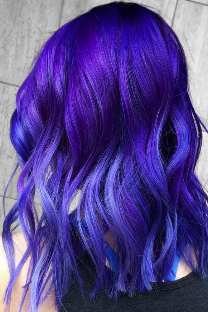 Electric Violet Black #purplehair ❤️ Dark purple hair is quite bold, and tha...