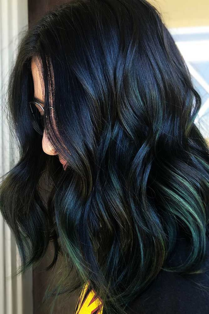 Green Highlights #brunette #highlights ❤️ Do you know how awesomely you can ...