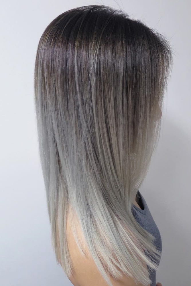 Grey Ombre Hair Ideas picture1 ❤️ Grey ombre hair remains popular, which is ...