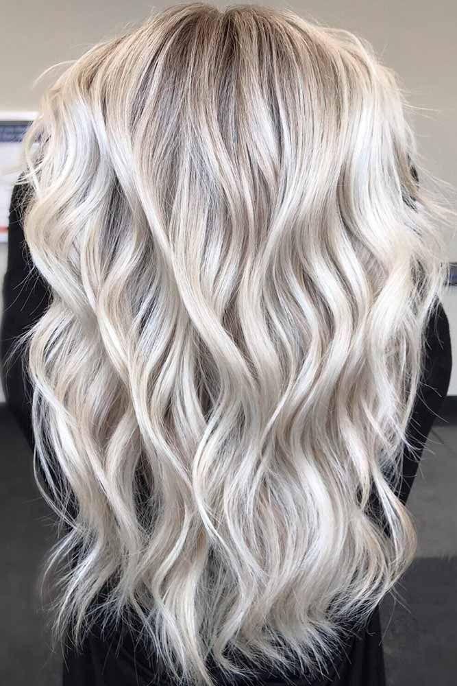 Long Layered Platinum Blonde Cut ❤️ Try platinum blonde hair shade if you wa...