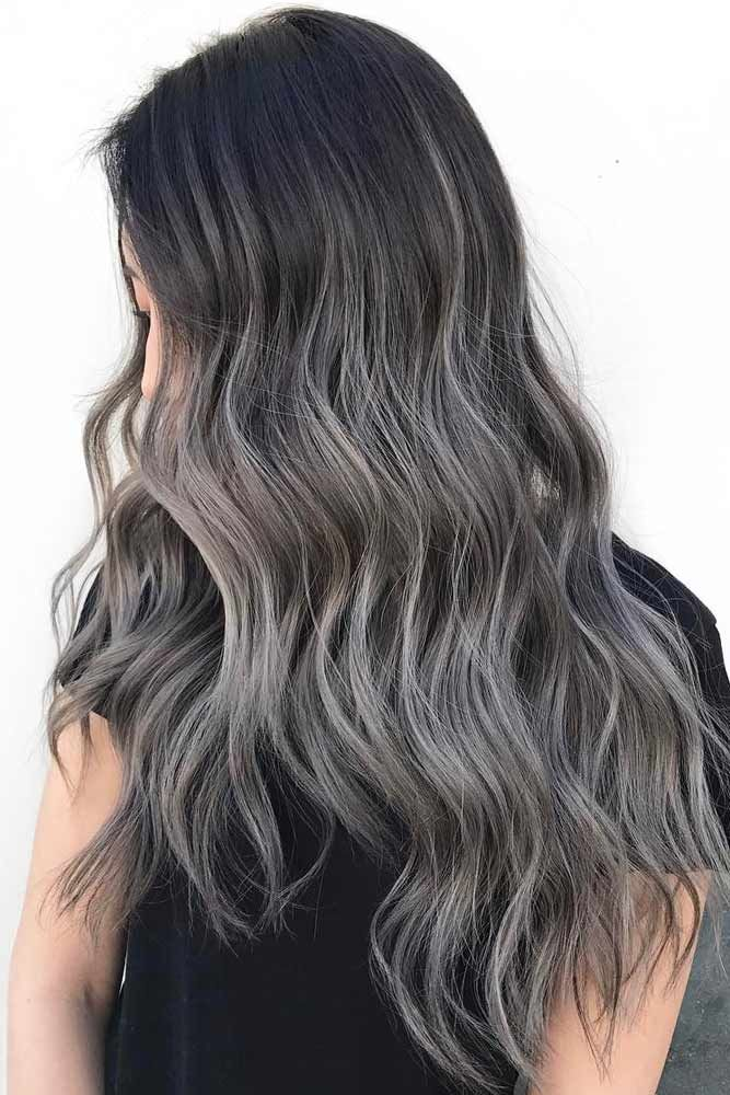 Messy Ash Grey Hair #greyombrehair #haircolor #ombrehair ❤️ Grey ombre hair ...