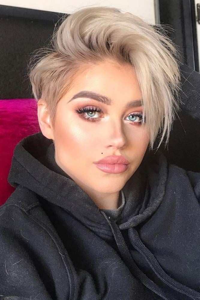 Messy Blonde Long Pixie #blondehair #pixie ❤️ Blonde hair colors will never ...