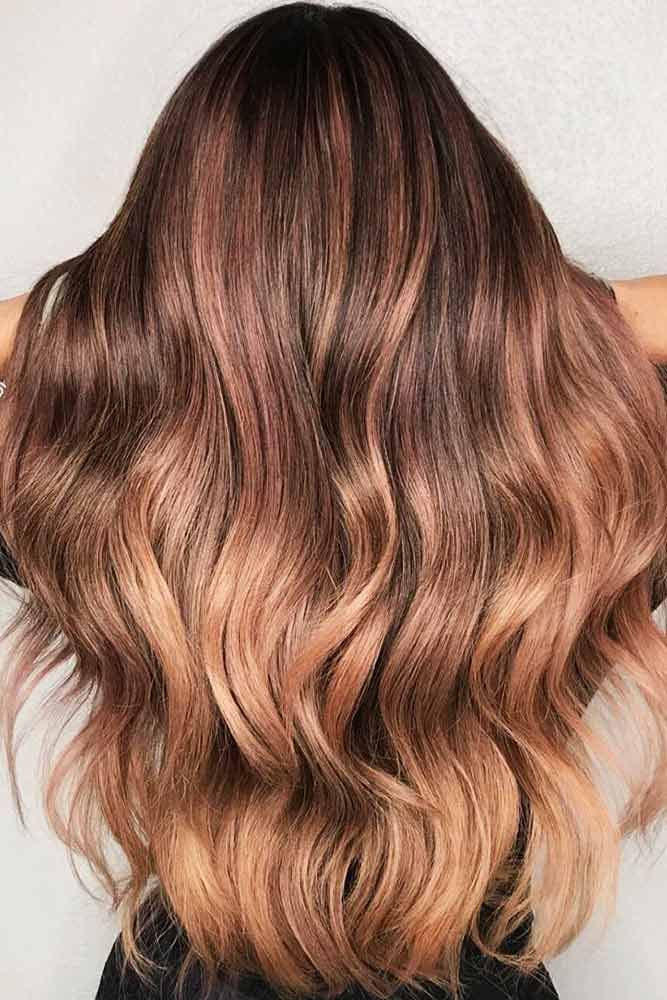 Naked Rose Wavy #ombre #brunette ❤️ Are you looking for blonde ombre hair co...