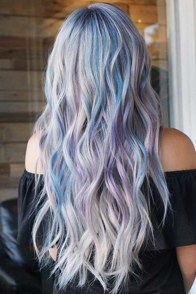 Pastel Blue And Purple Locks #pastelhair #bluehair ❤️ Pastel hair colors spe...