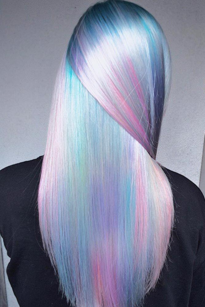 Pastel Rainbow Hair #pastelhair #bluehair ❤️ Pastel hair colors speak not on...