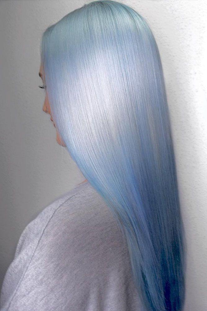 Pastel Silver Blue Hair #pastelhair #bluehair ❤️ Pastel hair colors speak no...