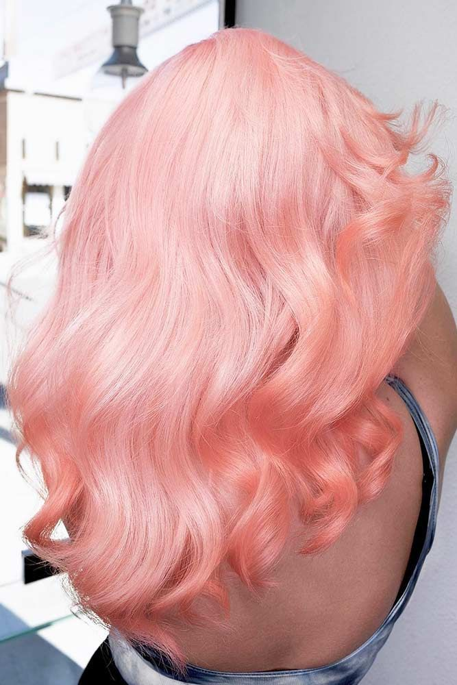 Peach Perfection #orangehair ❤️ Pastel hair colors speak not only about the ...