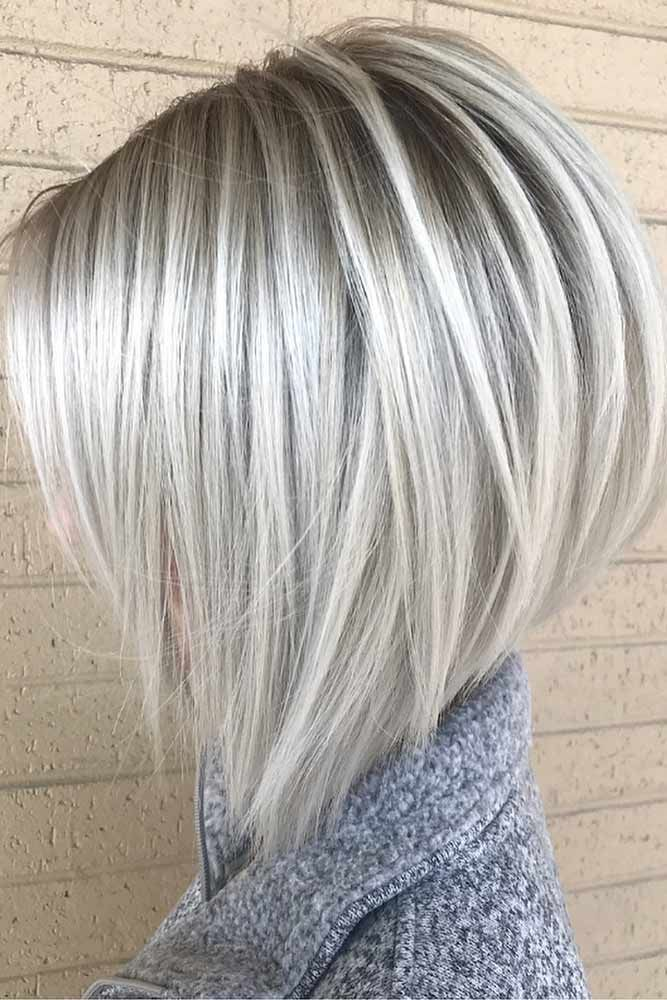 Platinum Stacked Bob Haircut ❤️ Try platinum blonde hair shade if you want t...