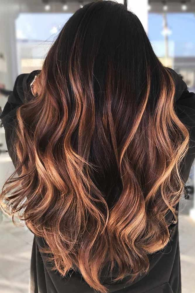 Reddish Highlights #brunette #highlights ❤️ Do you know how awesomely you ca...