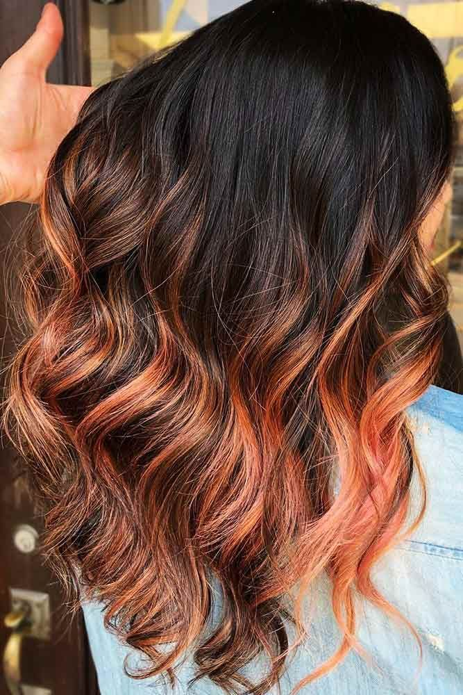 Rosy Orange #brunette #highlights #redhair ❤️ Do you know how awesomely you ...