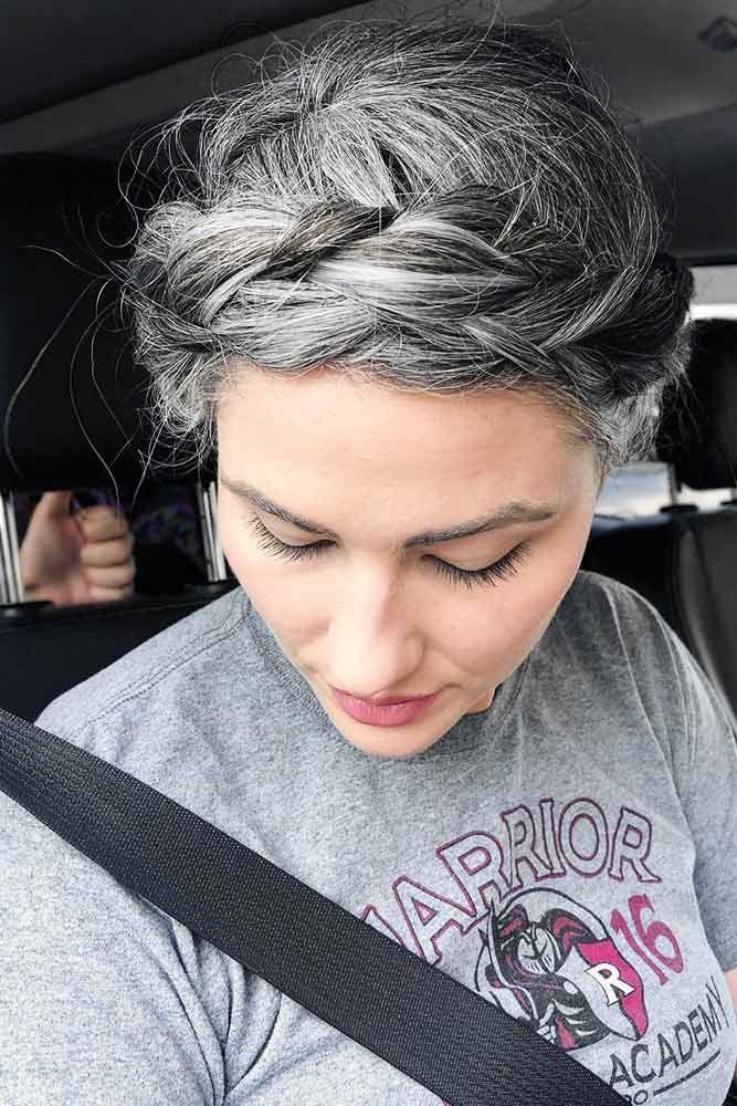 Salt And Pepper Hairstyles #saltandpepperhair #updo #braids ❤️ Salt and pepp...