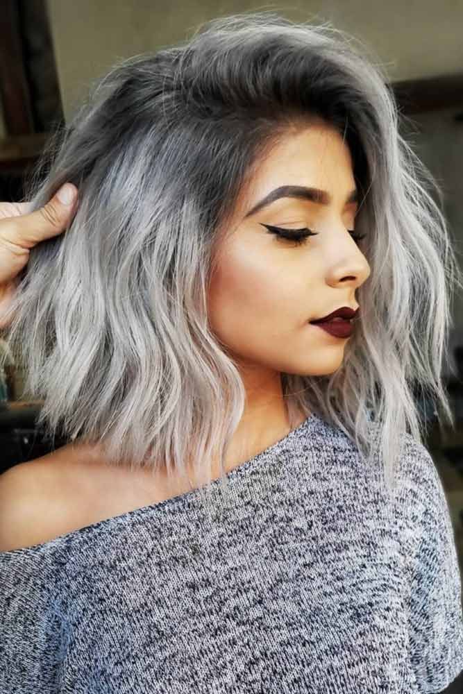 Salt And Pepper Sombre #saltandpepperhair #greyhair ❤️ Salt and pepper hair ...