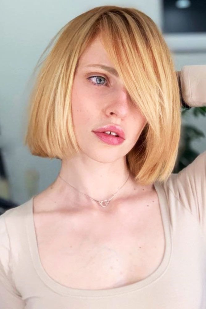 Strawberry Blonde #blondehair #bob ❤️ Blonde hair colors will never go out o...