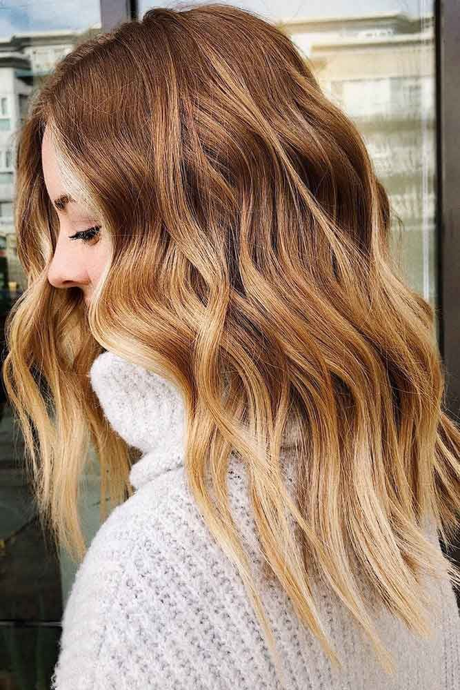 Wavy Strawberry Blonde Ombre Hair #ombre #blondehair #redhair ❤️ Are you loo...
