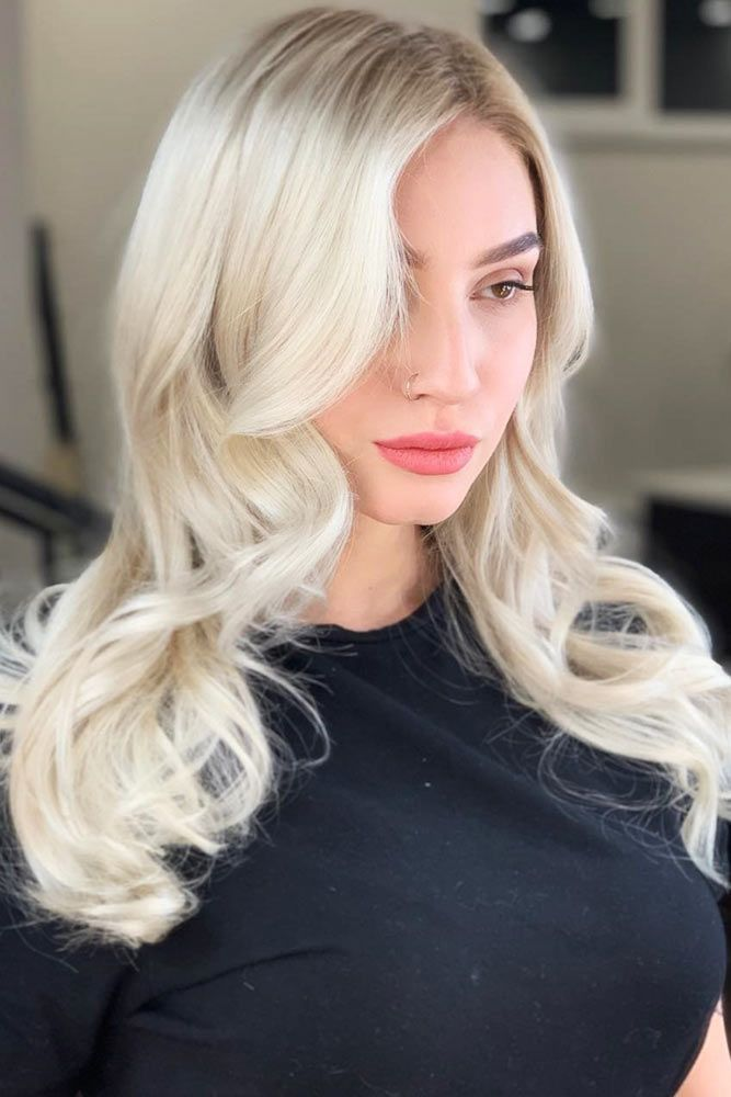 White Blonde For Ladies #blondehair ❤️ Blonde hair colors will never go out ...