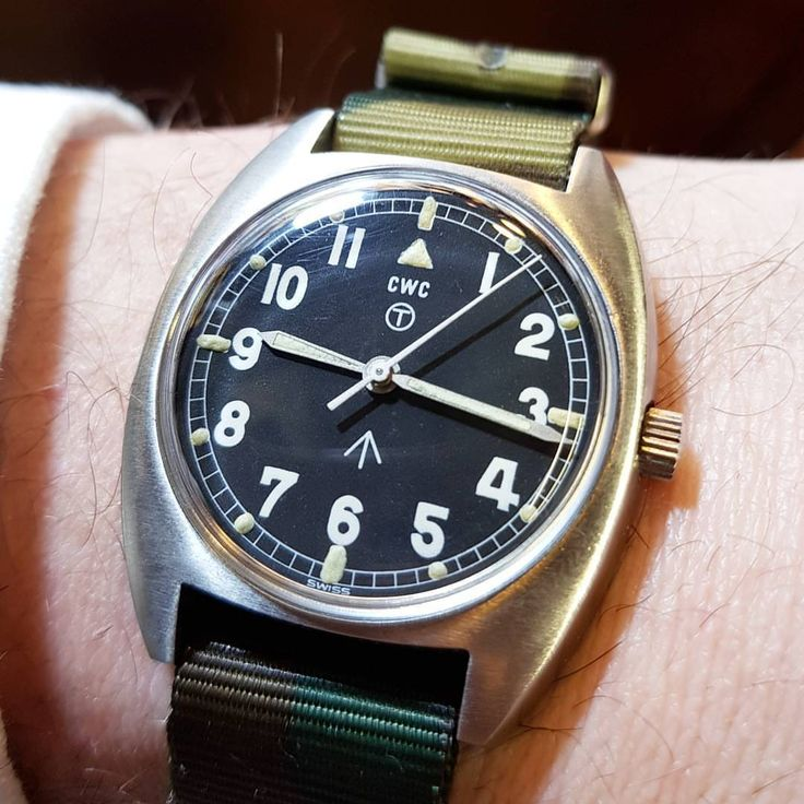 A very clean cwc British military issue timepiece 1979 down from the workshop. F...