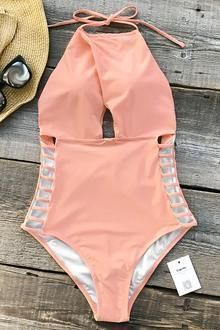 Cupshe Gone With the Wind Solid One-piece Swimsuit #Swimsuits #onepieceswimsuit