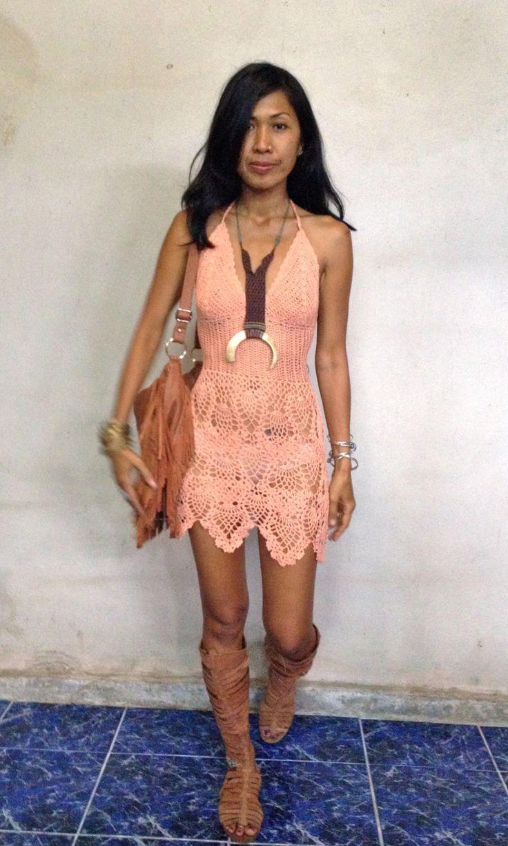 Handmade crochet dress, boho dress,beach dress 11 colors