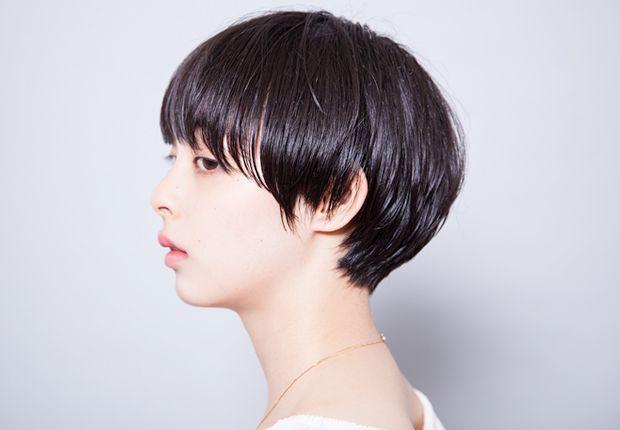 黒髪の良さを活かしたカタチのあるマッシュスタイル - SHORT