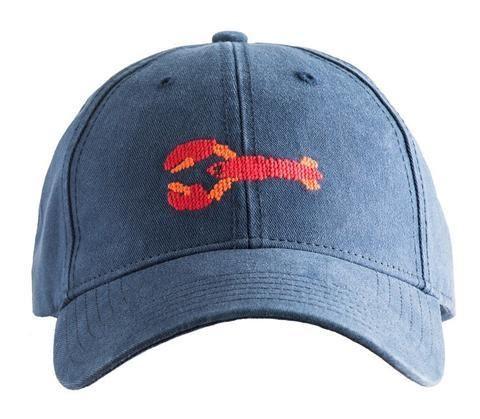 Harding Lane Needlepoint Baseball Hat - Maine Lobsters