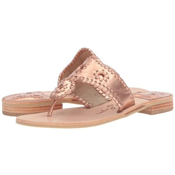 Jack Rogers Westhampton (Rose Gold/Rose Gold) Women's Shoes ($118) ❤ liked on ...