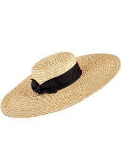 Wide Brim Straw Boater Sun Hat