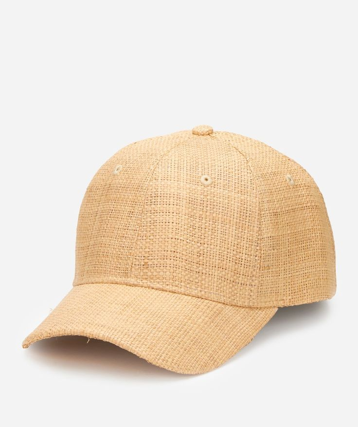 Women's Woven Raffia Ball Cap With Leather Adjustable Back (CTH4087)
