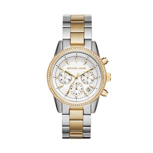 Michael Kors Women's Ritz Silver-Tone Watch MK6474 * Continue with the details a...