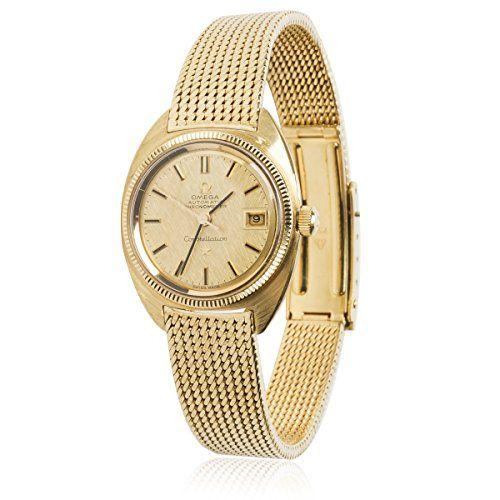 Omega Constellation Vintage 1960s Auto Chronometer Women's Watch in 18K YG (Cert...