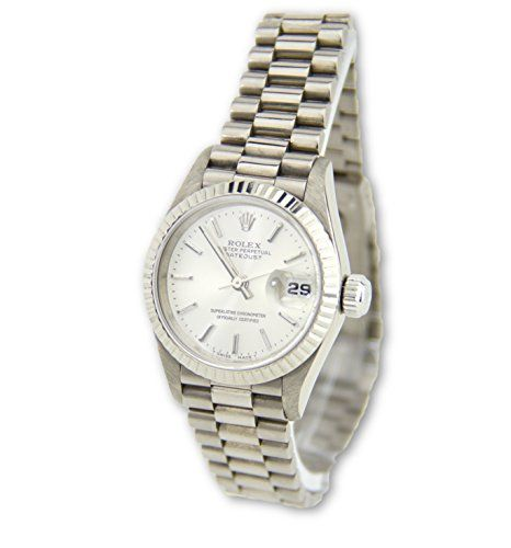 Rolex Datejust 18k White Gold President Women's Watch 69179 (Certified Pre-owned...