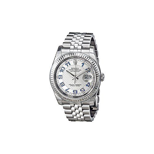 Rolex Datejust 36 Automatic Silver Dial Stainless Steel Jubilee Ladies Watch 116...