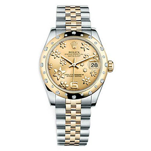 Rolex Datejust Champagne Floral Dial Women's Watch m178343-0013 ** Continue to t...