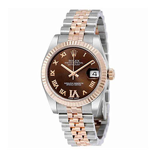 Rolex Datejust Lady 31 Chocolate Brown Dial Stainless Steel and 18K Everose Gold...