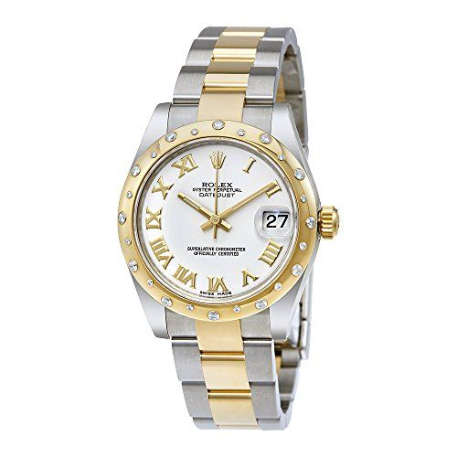 Rolex Datejust Lady 31 White Dial Stainless Steel and 18K Yellow Gold Rolex Oyst...