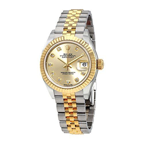 Rolex Lady Datejust Champagne Diamond Dial Steel and 18K Yellow Gold Automatic W...