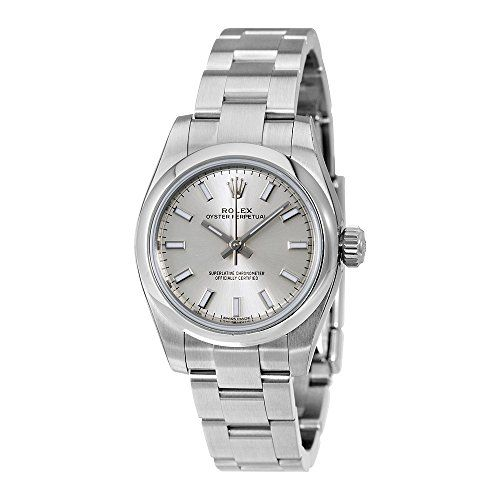 Rolex Oyster Perpetual Date Silver Dial Stainless Steel Ladies Watch 176200SSO -...