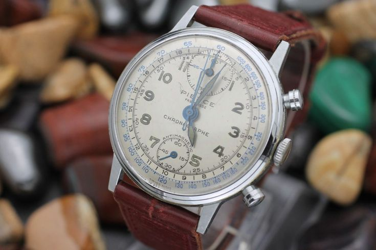 C. 1940's Vintage PIERCE Military Chronograph Oversized 37mm Men's Watch | eBay