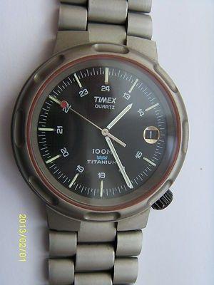 TIMEX TITANIUM 100m GENTS SPORTS WATCH - RARE   #424652267