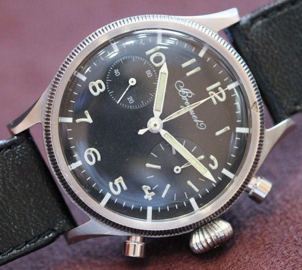 What you see here is a collection of mostly 1950s era Breguet Type XX timepieces...