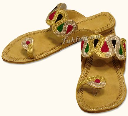 Ladies Slippers- Golden/Silver | Buy Pakistani Shoes and Dresses