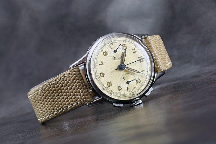 1940's FREY & Co. SA [by Minerva] Vintage Chronograph – Landeron Cal. 48