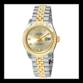 Amazon.com: Rolex Lady Datejust Silver Dial Steel and 18K Yellow Gold Ladies Watch 279173: Watches