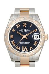Rolex Datejust 31 Purple Dial set Diamonds Stainless Steel and 18K Rose Gold Lad...