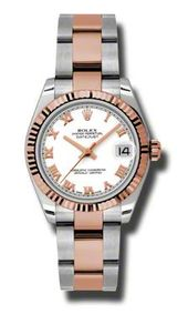 Rolex Datejust Automatic Stainless Steel and 18kt Rose Gold Ladies Watch 178271W...