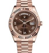 Rolex Day-Date II 41 President Everose Gold Watch Chocolate Dial 218235 ** Visit...