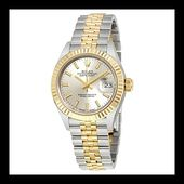 Rolex Lady Datejust Silver Dial Steel and 18K Yellow Gold Automatic Ladies Watch...